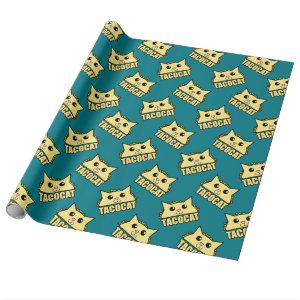 Taco Cat Pattern Wrapping Paper