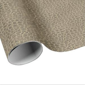 Tan Brown Snake Skin Dragon/Dinosaur Animal Print Wrapping Paper