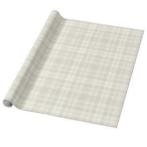 Tartan Plaid Cream & Beige No. 66 Wrapping Paper
