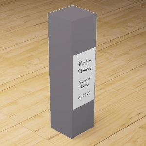 Taupe Gray High End  Solid Colored Wine Box