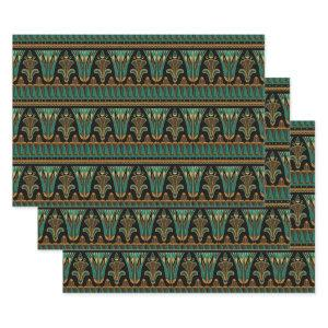 Teal and Gold Art Deco Wrapping Paper Sheets