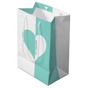 Teal Blue Forever You & Me Wedding Suite Party Medium Gift Bag