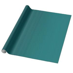Teal deep dark saturated intense wrapping paper