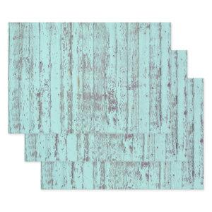Teal Distressed Rustic Wood  Sheets