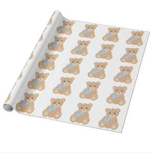 """Teddy Bear"" for Boys Wrapping Paper"