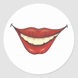 Teeth Smile Lips 2 ~ Dental Dentist Hygienist Classic Round Sticker
