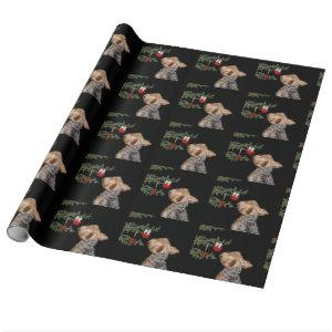 Tempted Yorkie Christmas Wrapping Paper
