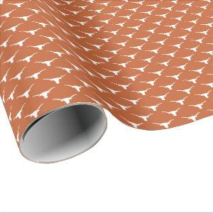 Texas Longhorns Logo Wrapping Paper