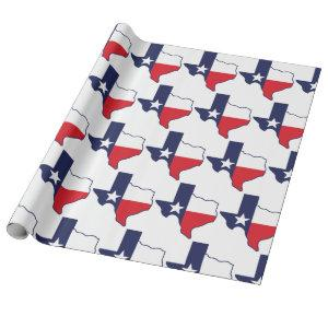 Texas State Birthday Wrapping Paper