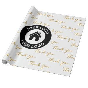 Thank You Custom Business Logo Wrapping Paper