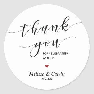 Thank you for celebrating with us Wedding Sticker