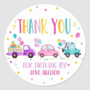 Thank You For Driving By Drive By Through Party Classic Round Sticker