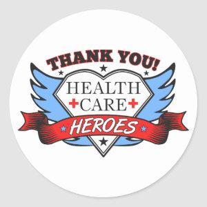 Thank You Health Care Heroes Classic Round Sticker