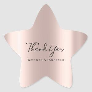 Thank You Name Star Rose Bridal Sweet 16th Star Sticker