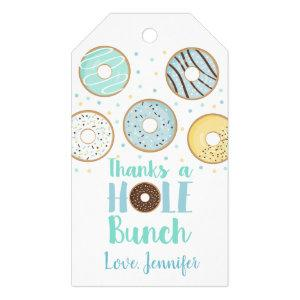 Thanks A Hole Bunch Blue Donut Baby Sprinkle Gift Tags