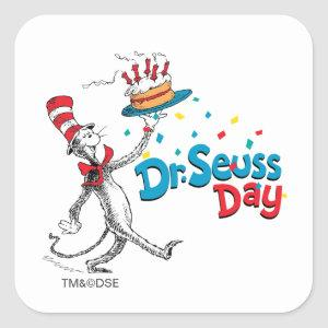 The Cat in the Hat | Dr. Seuss Day Square Sticker