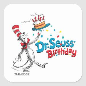 The Cat in the Hat | Dr. Seuss's Birthday Square Sticker