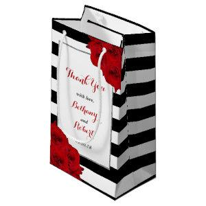 The Chic Modern Luxe Wedding Collection- Red Roses Small Gift Bag