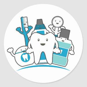 The Clean Teeth Gang Classic Round Sticker