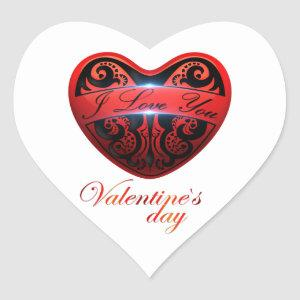 The day of San Valentin Heart Sticker
