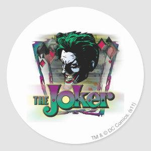 The Joker - Face and Logo Classic Round Sticker
