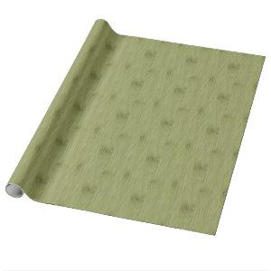 The Look of Bamboo in Olive Moss Green Wood Grain Wrapping Paper