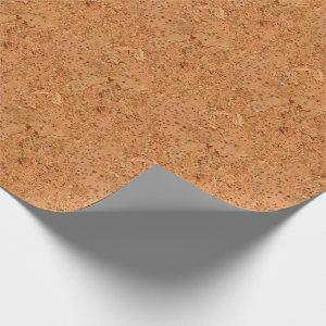 The Look of Macadamia Cork Burl Wood Grain Wrapping Paper