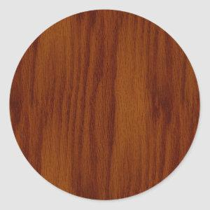 The Look of Warm Oak Wood Grain Texture Classic Round Sticker