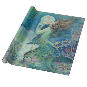 The Mermaid by Henry Clive Wrapping Paper