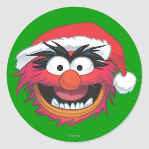 The Muppets | Christmas Animal Face Classic Round Sticker