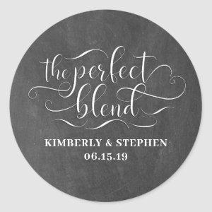 The Perfect Blend Wedding Classic Round Sticker