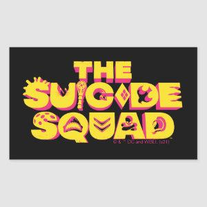 The Suicide Squad   Character Icon Logo Rectangular Sticker