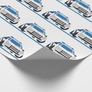 The Thin Blue Line Wrapping Paper