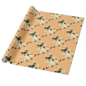 The Third Best Pug Wrapping Paper