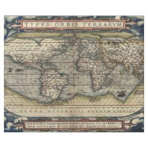 THEATRE OF THE WORLD MAP DECOUPAGE WRAPPING PAPER
