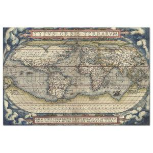 THEATRE OF THE WORLD MAP TISSUE PAPER