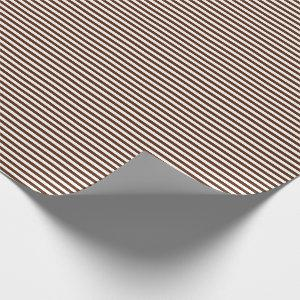 Thin Brown and White Stripes