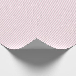 Thin Light Pink and White Stripes Wrapping Paper