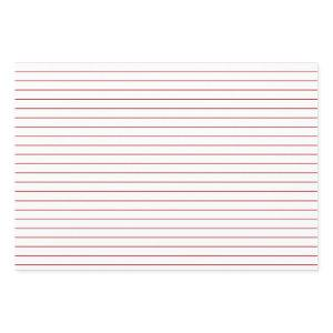 Thin Red Stripes on White Party or Christmas Wrapping Paper Sheets