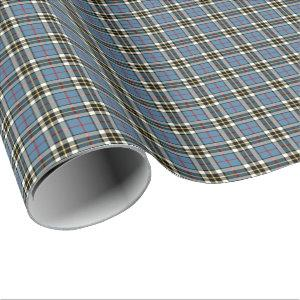 Thompson Clan Blue Formal Dress Tartan Wrapping Paper