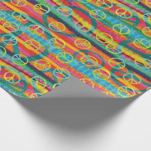 Tie Dye Peace Signs Wrapping Paper