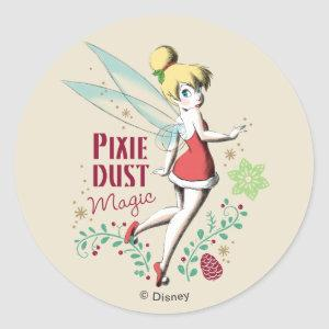 Tinker Bell   Vintage Pixie Dust Magic Classic Round Sticker