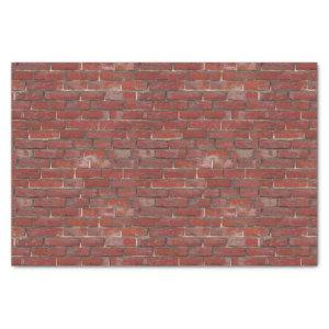 Tiny Deep Red Bricks Urban Pattern Tissue Paper