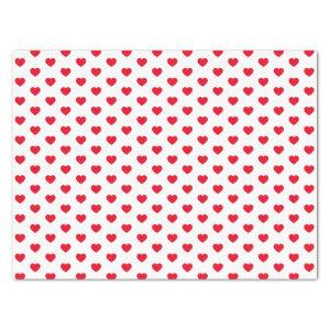 Tiny Red Hearts Pattern Tissue Paper