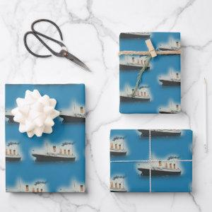 Titanic Vintage Maritime White Star Line Ship Wrapping Paper Sheets