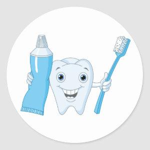 Tooth And Toothbrush Stickers