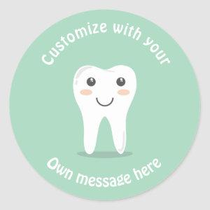 Tooth Classic Round Sticker