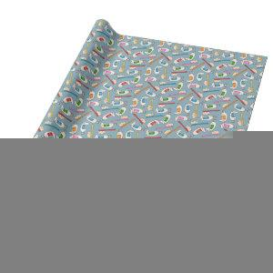 Toothbrush & Toothpaste Pattern Wrapping Paper