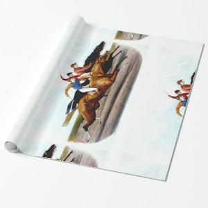 TOP Love Horse Racing Wrapping Paper