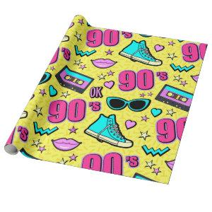 Totally 90's! Patterned Wrapping Paper